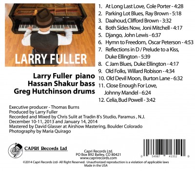 Larry Fuller album, back cover